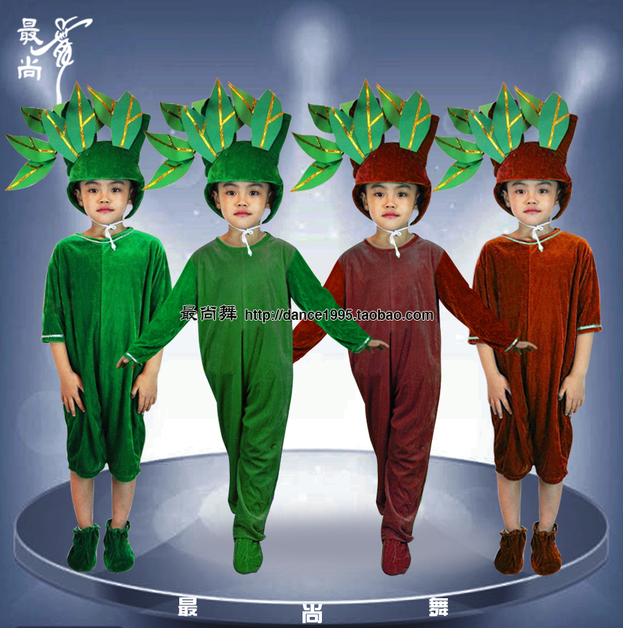 Childrens tree performance clothing childrens big forest stage performance clothing green tree modeling role play clothing