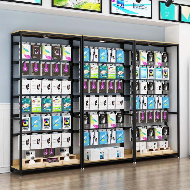 手机配件袜子展示柜内衣挂架货架调节饰品宠物零食展架超市陈列柜