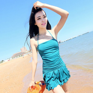 Extravagance odd swimsuit female Siamese skirt type gather swimsuit cover the belly was thin Spa