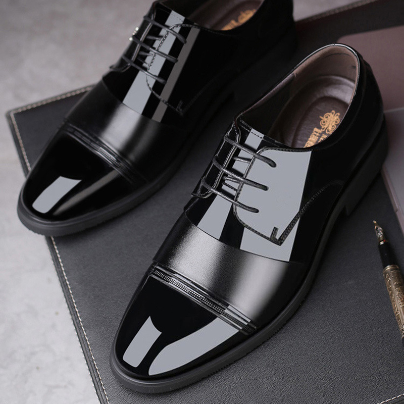 2021 autumn and summer new mens leather Korean shoes leisure business British cowhide low cover foot versatile inner heightening shoes