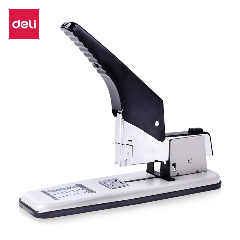 得力重型厚層訂書機大號省力加厚大碼辦公訂書器省力釘書機包郵