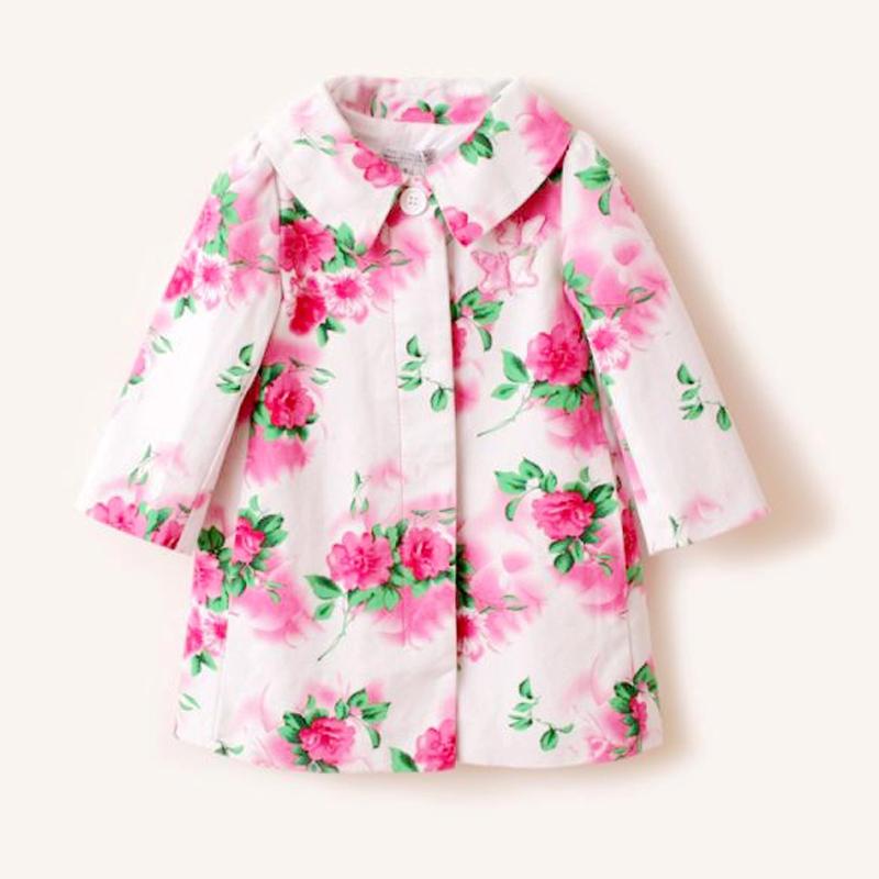 Новые IPP акварелью цветы одиноких женщин носить catimini пальто ветровки