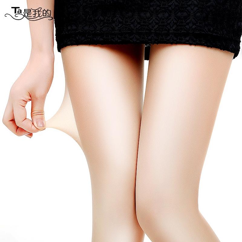 丝袜女薄款 防勾丝连裤袜肉色光腿神器菠萝黑色超薄长筒透明夏天
