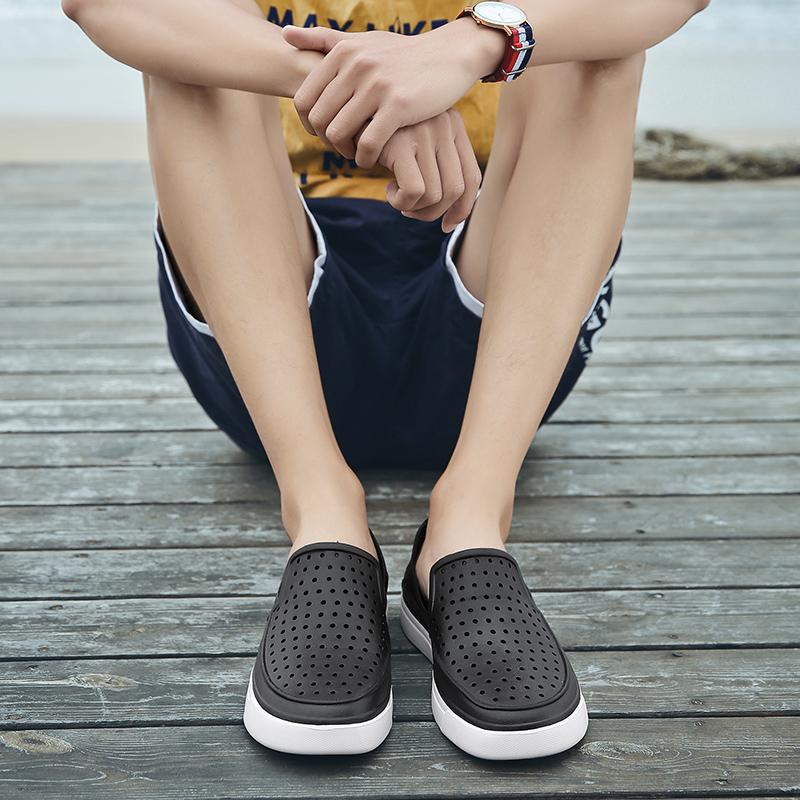 齐卡洞洞鞋男凉鞋韩版时尚沙滩鞋防滑透气鞋休闲鞋包头凉鞋潮男
