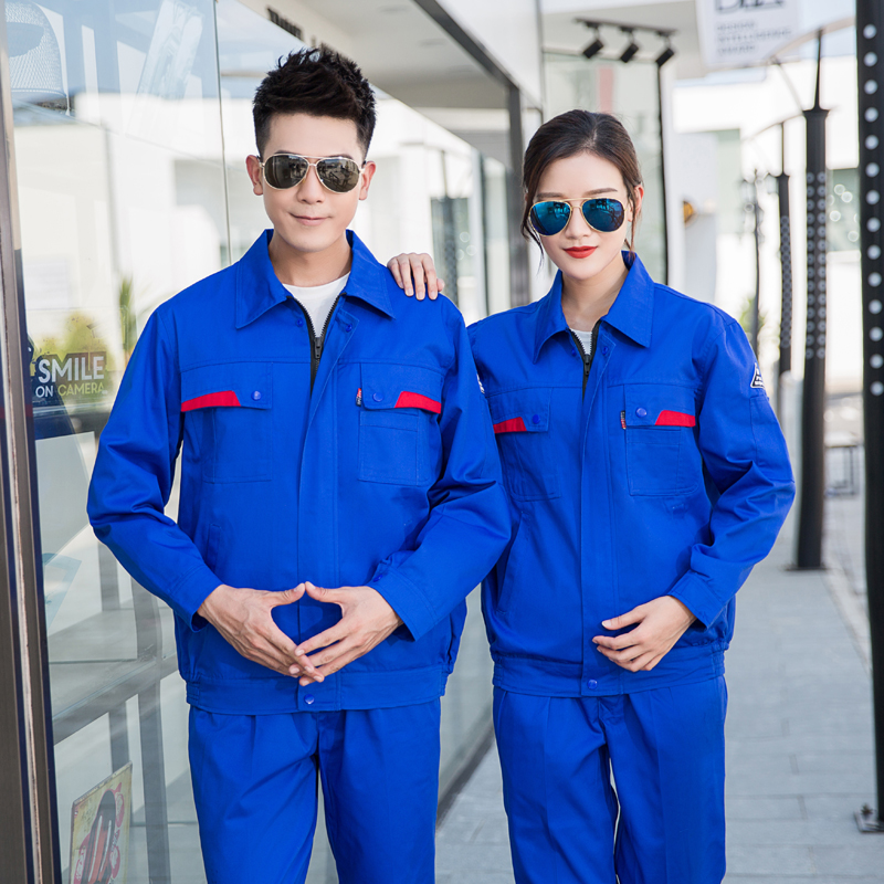Double layer anti-static Engineering clothes with lining in winter long sleeve uniform electric power company outdoor installation tooling electrical clothing