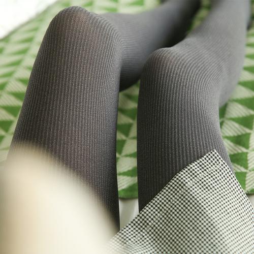 春秋季竖条微压力显瘦腿连裤袜天鹅绒中厚防勾丝丝袜打底袜外穿