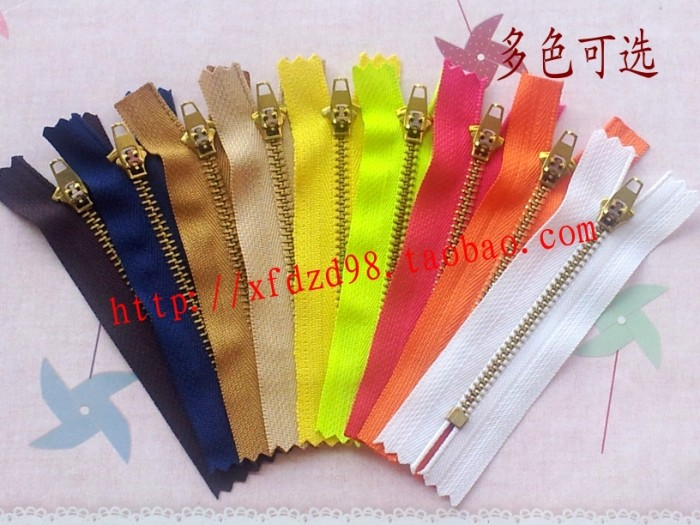 [factory direct sales] accessories No.4 brass metal zipper jeans special placket 10cm can be fixed length