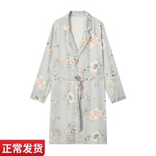 Dapu class a pajama women's cotton printing series spring and autumn medium length pajamas loose, soft and breathable home clothes