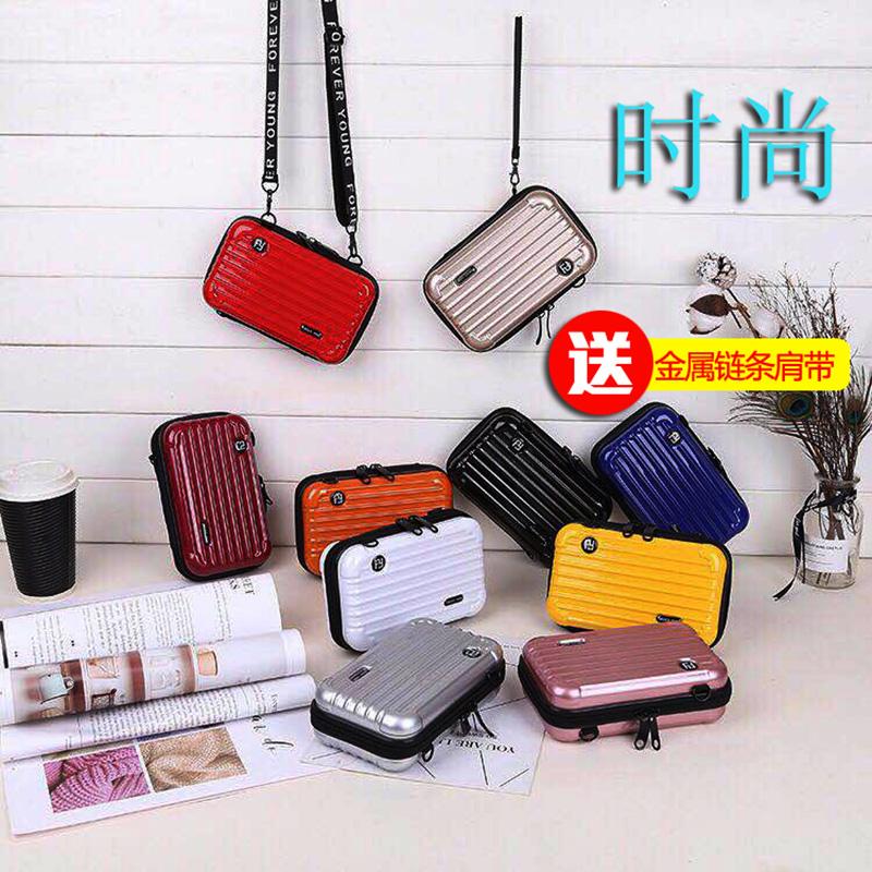 Mobile bag 2019 new fashion Mini suitcase small square bag box womens Bag Messenger Bag single shoulder bag handbag
