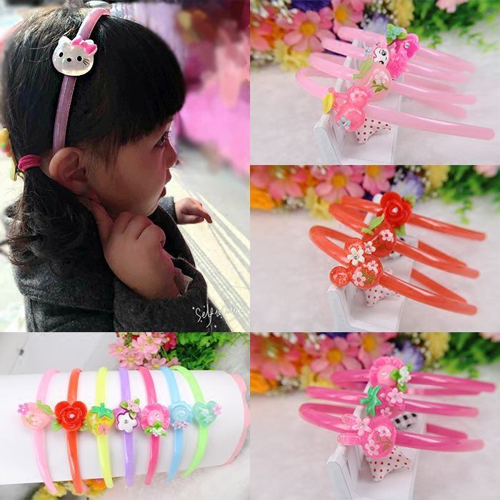 Korean childrens hair band accessories Baby Headband girl hairpin with drill Princess toothed acrylic headdress