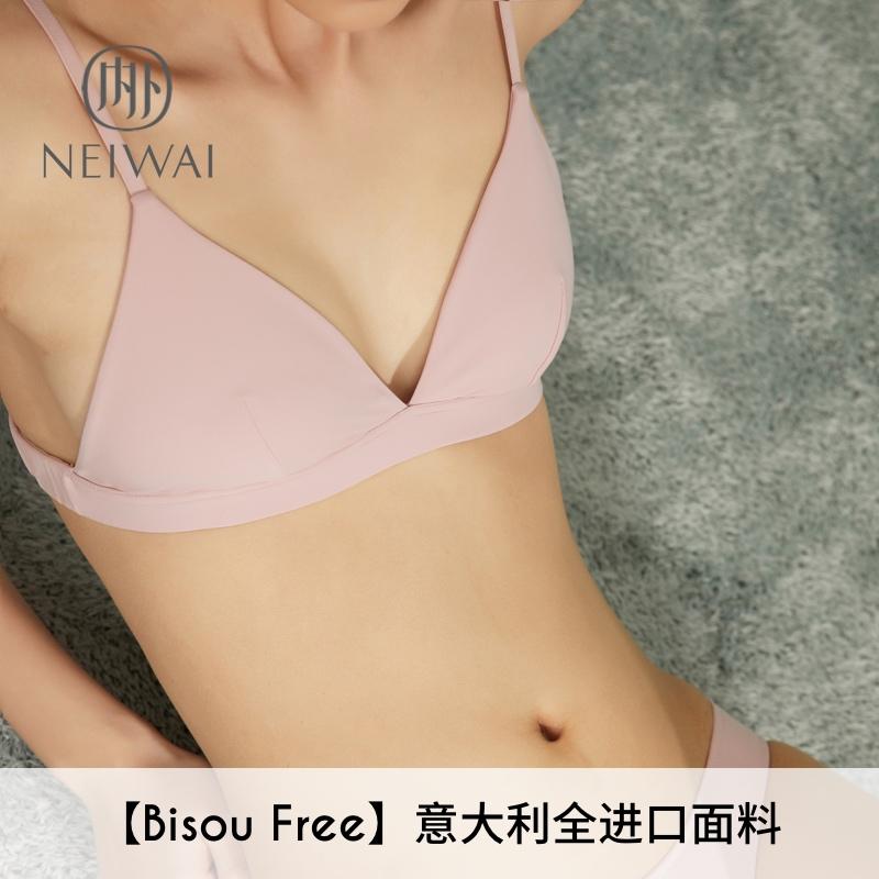 无胸垫三角杯无钢圈文胸女士内衣舒适薄款透气简约纯色NEIWAI