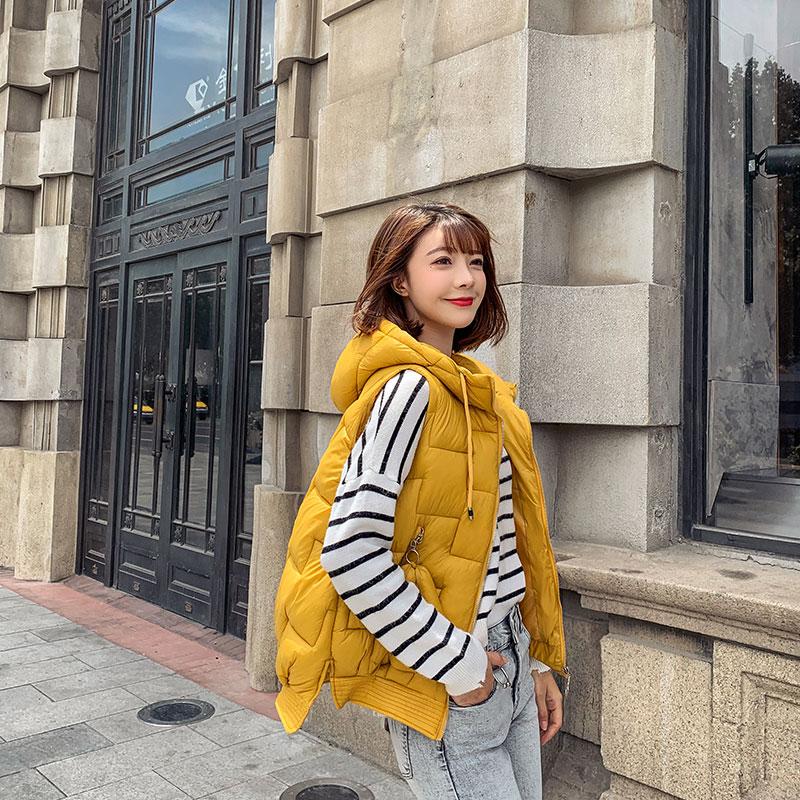 實拍2019輕薄棉服女韓版短款可愛學生無袖馬夾外套 網紅直播 抖音