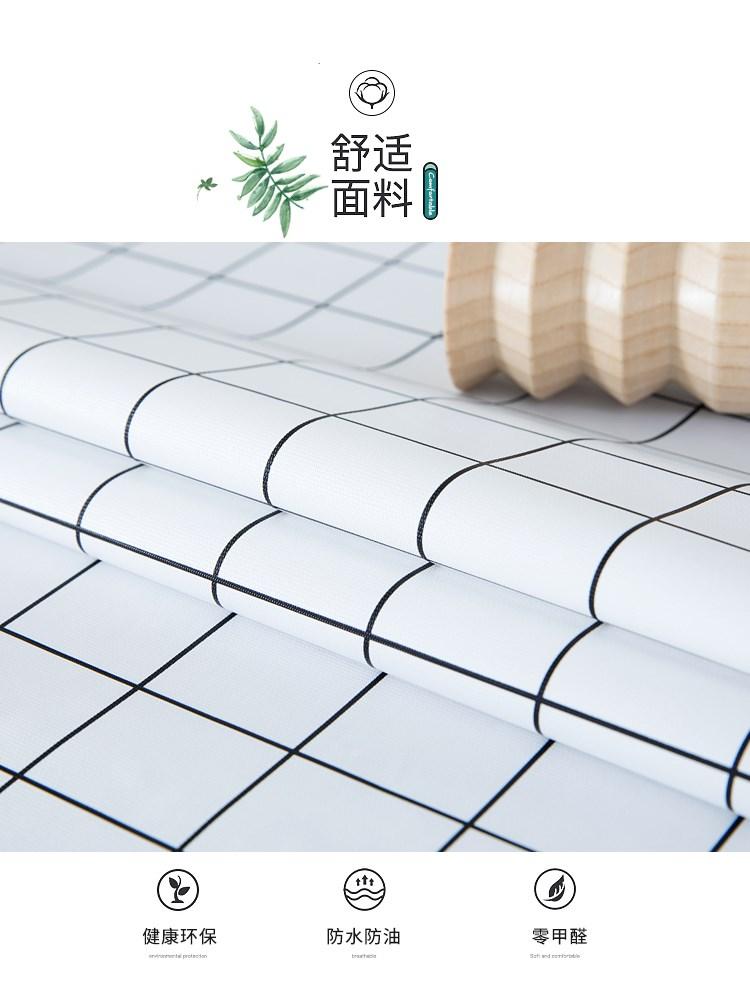 白色简约圆方正方形家用布艺防水桌布北欧简约防水纯色