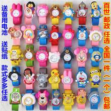 儿童玩具手表男孩卡通果冻表奥特曼女孩幼儿可爱小童啪啪圈电子表