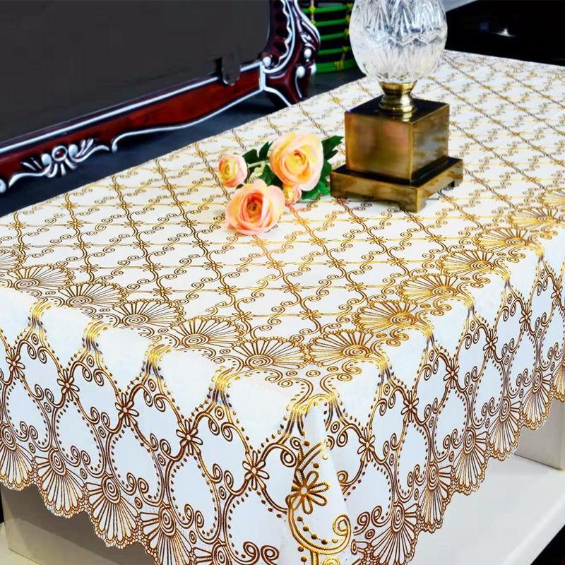 PVC桌布少女心防水防烫防油免洗餐桌垫长方形塑料胶茶几客厅台布
