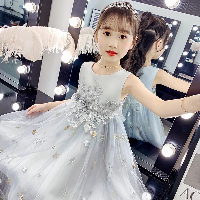女童公主裙蓬蓬纱裙夏装2020新款洋气夏款裙子韩版儿童网红连衣裙