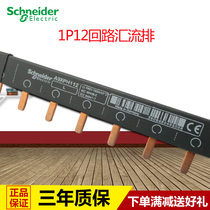 Schneider Confluence row 1P12 position Connection copper row wiring circuit breaker air switch wiring terminal