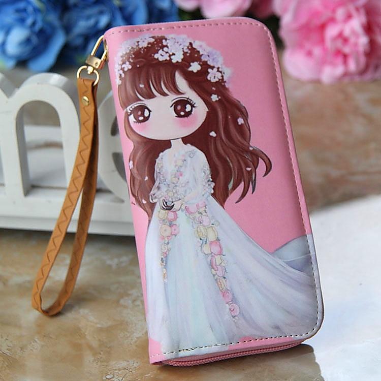 女童迷你零钱包儿童公主钱包手拿卡通可爱小学生拉链韩版长款卡包