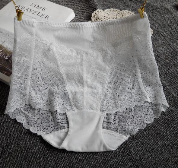 3条女士蕾丝白色高腰纯棉档微内裤限10000张券