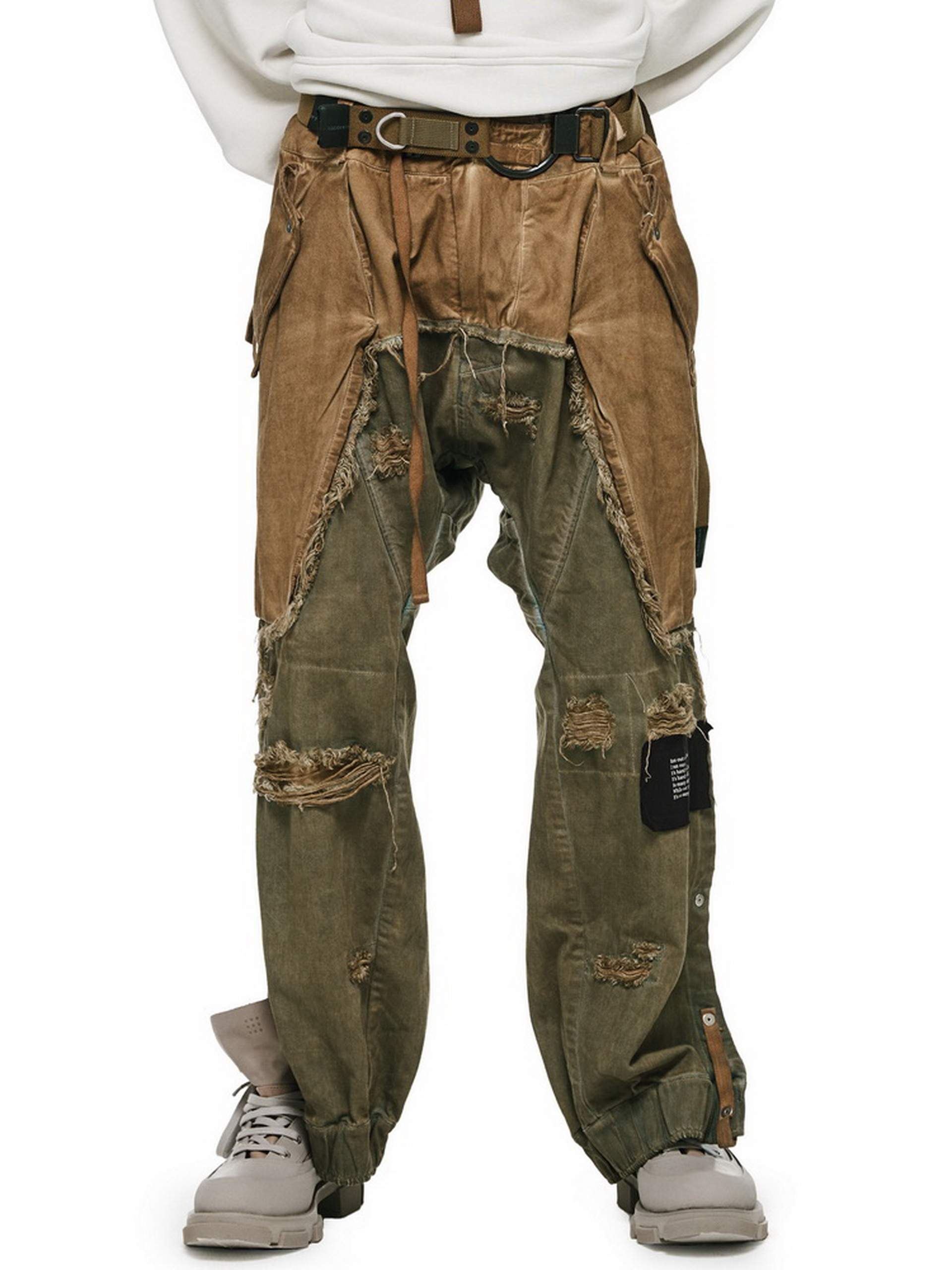 HAMCUS/RVEN/2-toned overdyed cowboy chaps pants DH