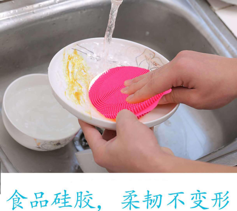 轻捷多功能去污硅胶洗碗刷厨房去污百洁布可洗水果蔬菜家用洗锅布