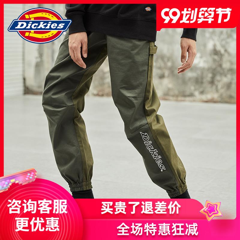 Dickieslogo printed rubber band jogging pants mens autumn new casual pants dk008065