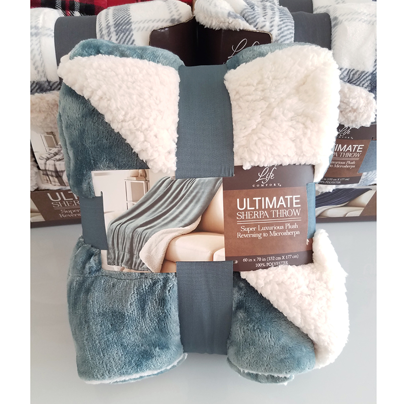 New American life comfort blanket, cashmere like blanket, thickened air conditioning blanket, autumn and winter blanket