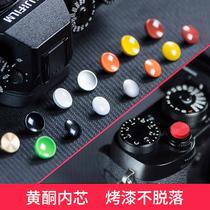 佰卓纯铜相机快门按钮键富士XT30 T20 10 XT4 3 2 XPRO2 1微单X100F 100V XE3 GS645s徕卡M9索尼RX1RII DFM2