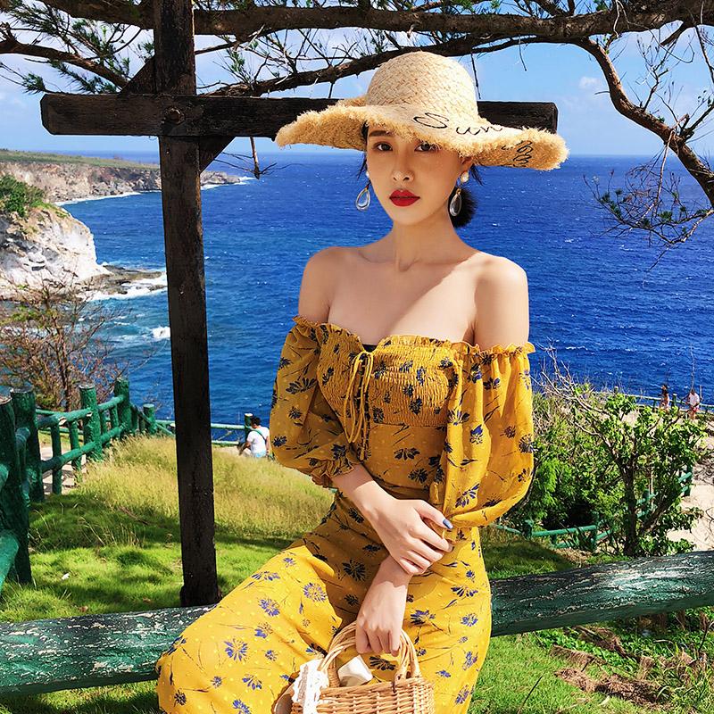 79.80元包邮新款女夏海边度假超仙显瘦沙滩裙