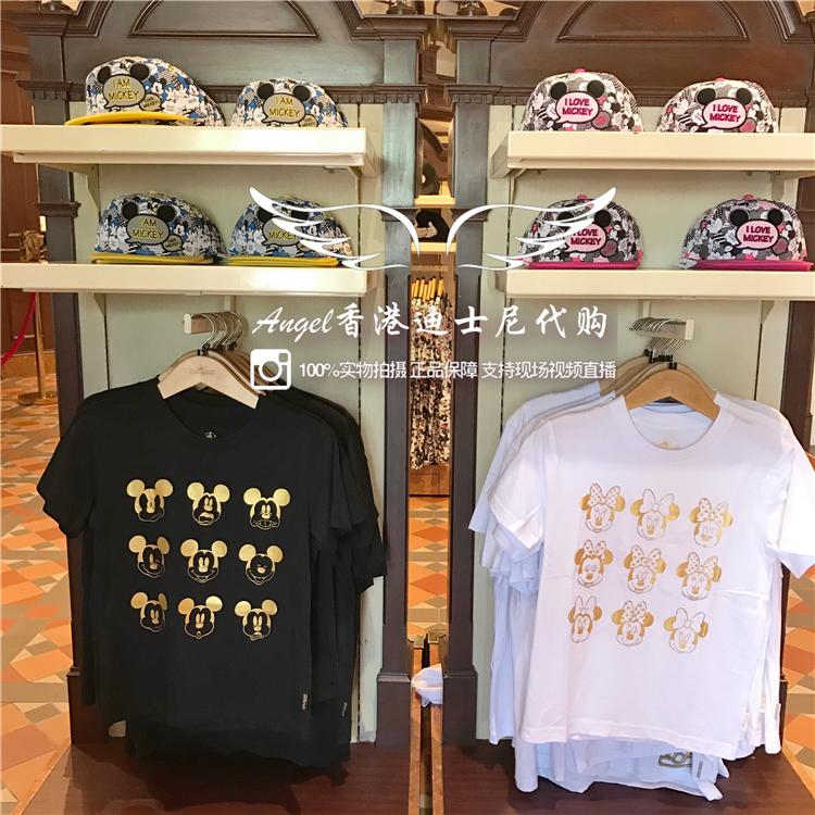 香港迪士尼正品 米奇米妮表情多�化短袖上衣 可�劭ㄍㄇ�HT恤