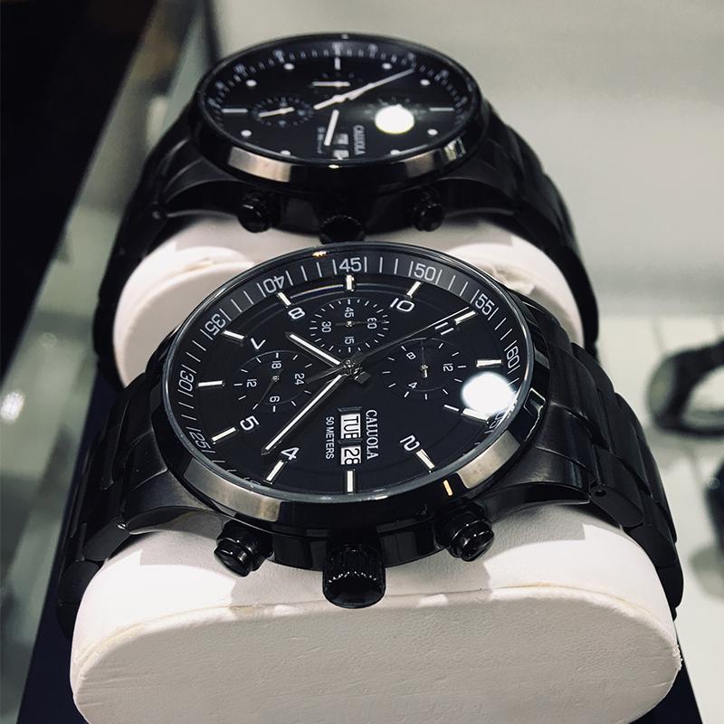 卡罗莱全自动机械表皮带男士手表品牌正品男表防水精钢带学生十大
