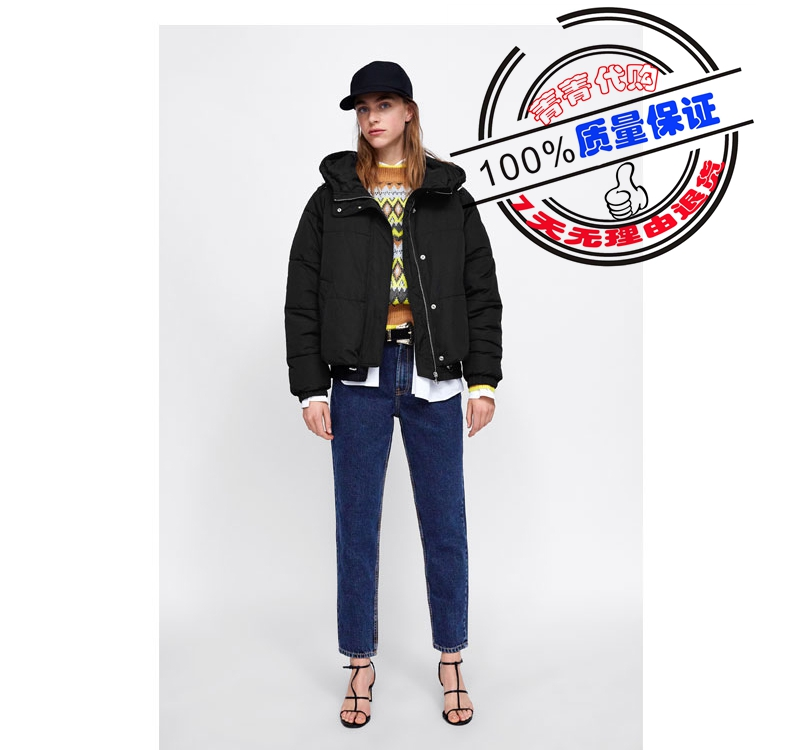 18 autumn and winter new womens hooded cotton jacket warm cool short jacket womens bread jacket 3427212