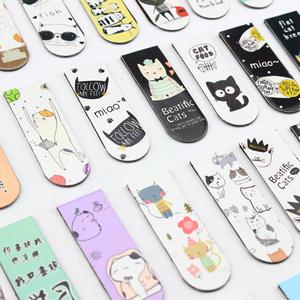 送铁盒 韩国创意文具小清新磁铁书签可爱磁性书签古典中国风书签