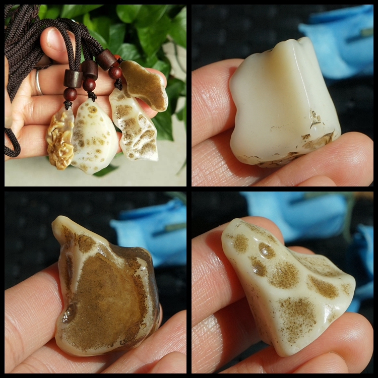 Natural Xinjiang Gobi opal raw stone surface albumin sun rust old paint old skin small pendant necklace material