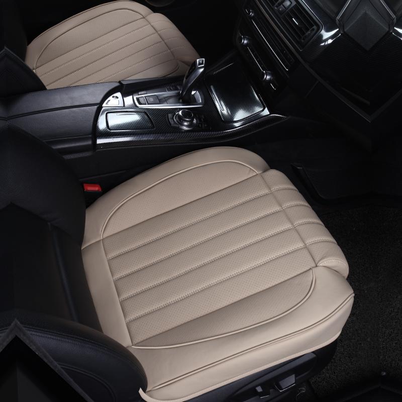 四季通用无靠背汽车坐垫新款耐磨丹尼皮竹炭小三件套单片夏季座垫