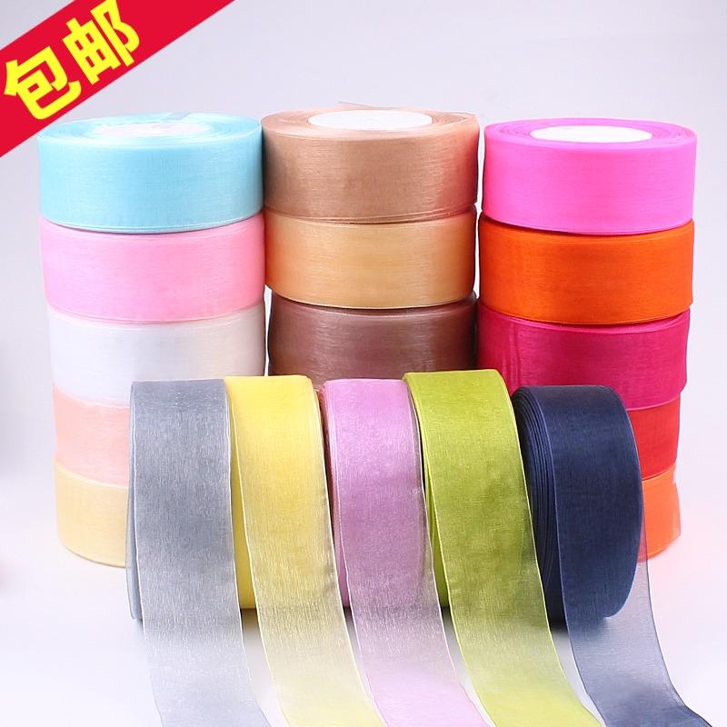 2cm transparent chiffon snow ribbon DIY gift packaging braided hat hair accessories Ribbon Ribbon Ribbon Ribbon Hook Hat