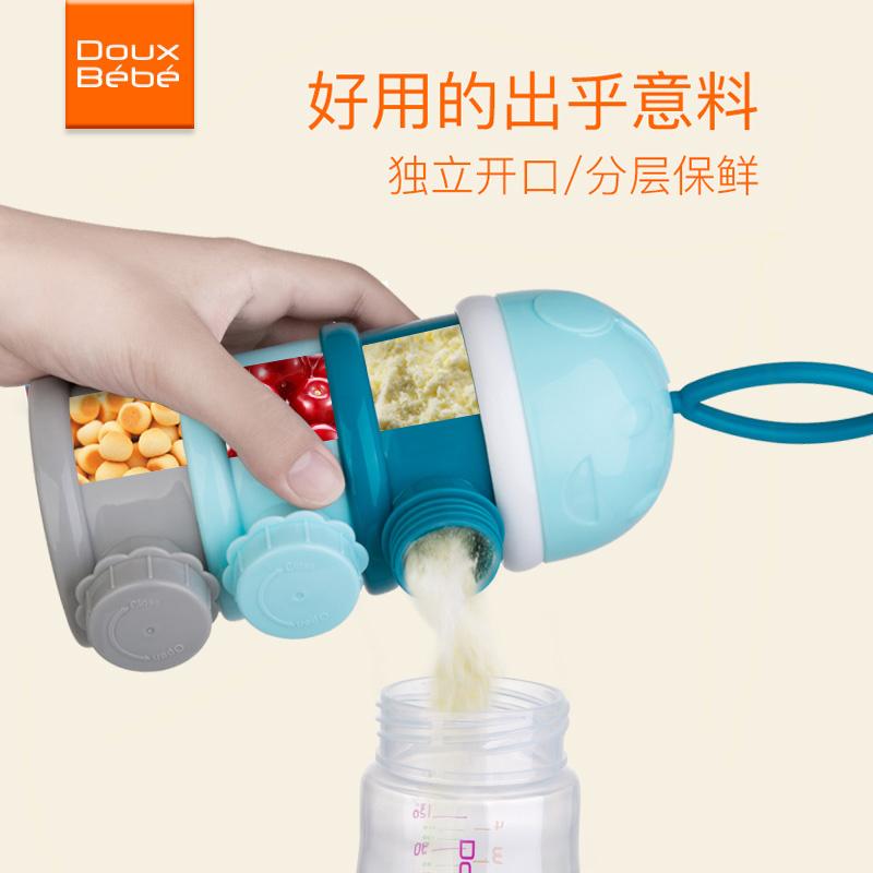 Великобритания Douxbebe сухое молоко коробка портативный из мини маленький размер сухое молоко розовый сетки ребенок двойной сухое молоко упаковка коробка