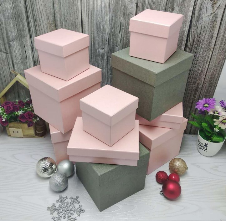 满16.00元可用1元优惠券高档商务蓝色礼品盒包装盒天地盖纸盒印logo大号纯色正方形礼盒篮