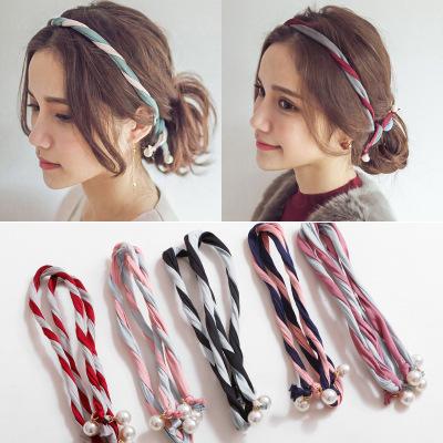 Spray after spray, Tan songyun cloud, same style of wire hairband, Korean headband, Japanese and Korean double color matching Headband