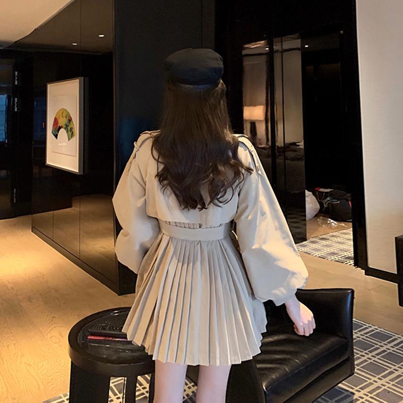 限10000张券网红时尚套装女2019秋装新款韩版洋气开衫外套+显瘦半身裙两件套