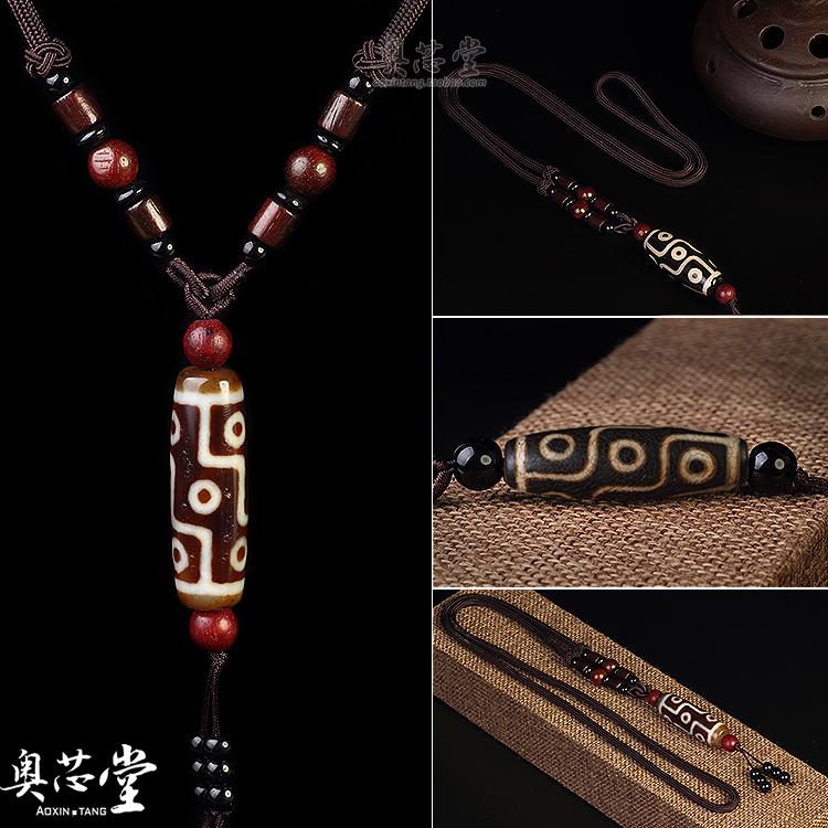 Природный Тибет Подлинный Девять глаз Дзи Бисер Агат Браслеты Небеса Глаза Свободные бисер мужские и женские Подвесное ожерелье