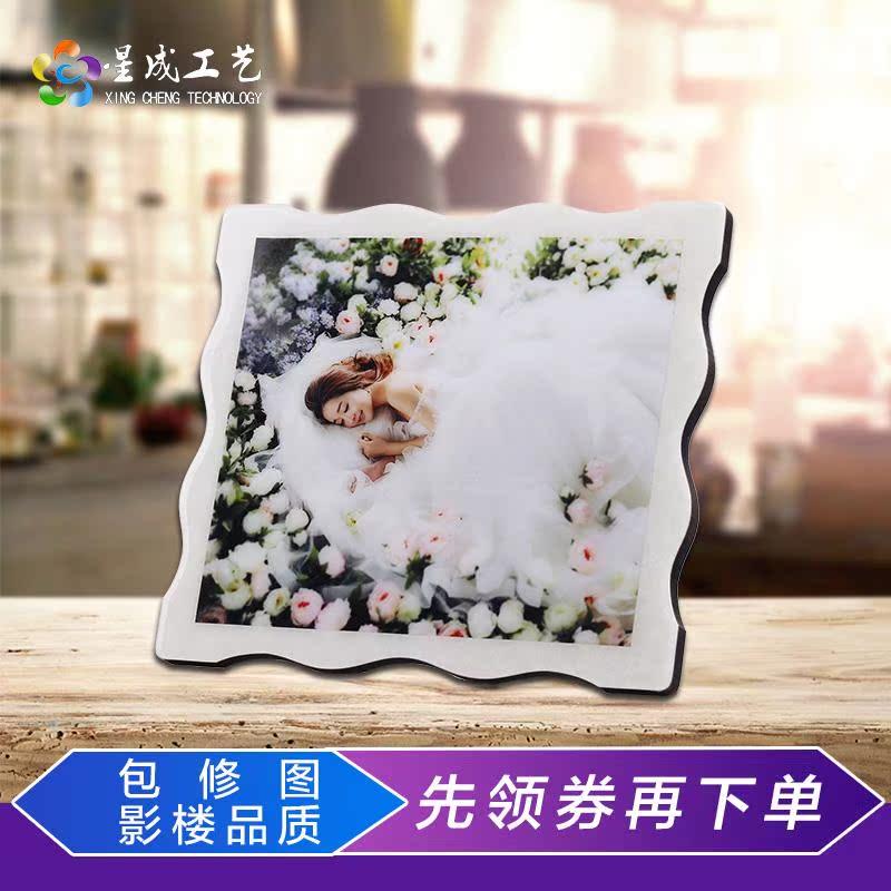 8-48寸相片照片水晶定制做婚纱水晶放大挂墙版画相框制作影楼摆台