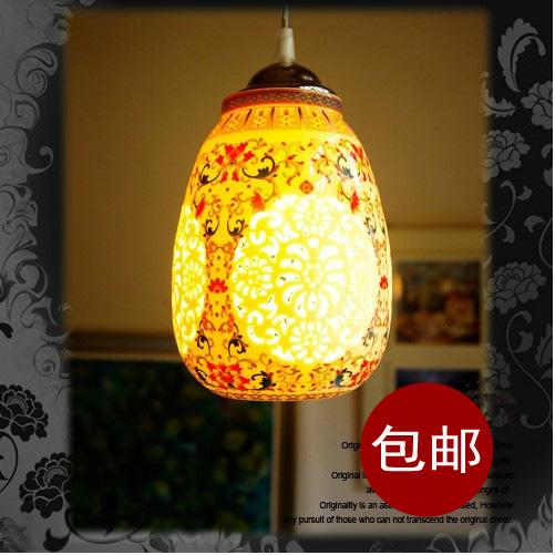 Китайский стиля лампы и керамические единого творческого современном минималитском стиле Ресторан Бар Терраса люстра вход холл люстра