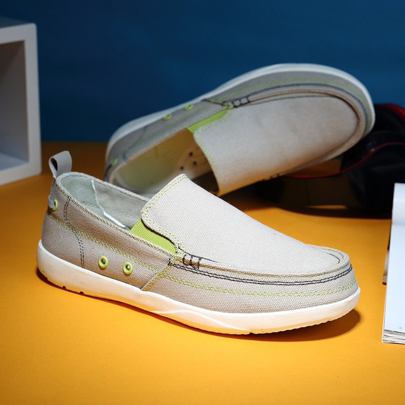 2020 mens one foot canvas shoes, lazy shoes, leisure lazy walking, youth trend, odor proof old Beijing cloth shoes