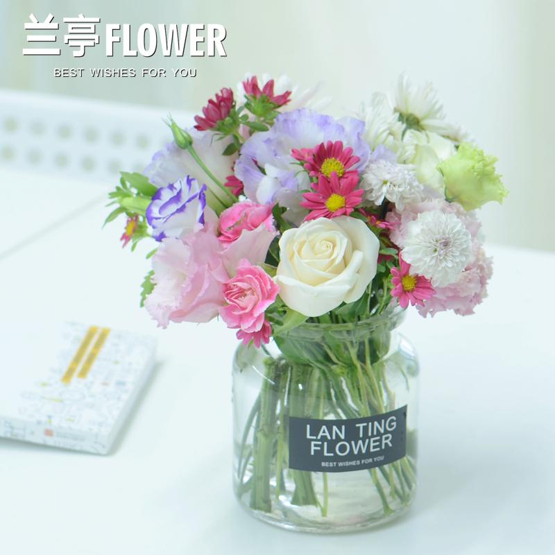 长沙鲜花家用办公室包月鲜花长沙同城花店瓶插花送花上门每周一花