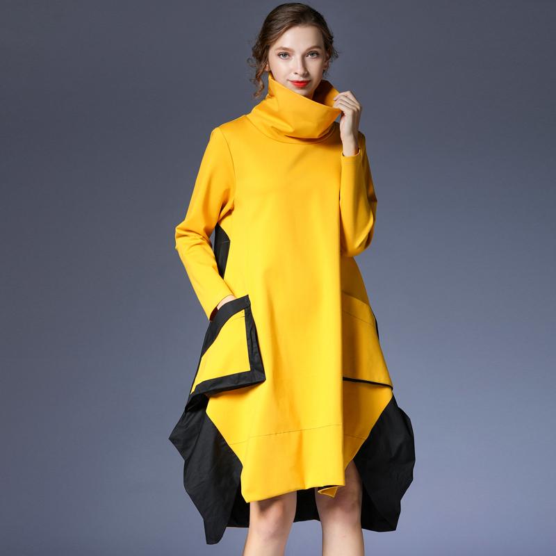 10月24日最新优惠咫尺宽松长袖连衣裙打底裙中长裙子