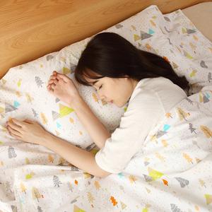 懶角落 純棉睡袋成人室內 便攜旅行隔臟睡袋酒店雙人睡袋65173