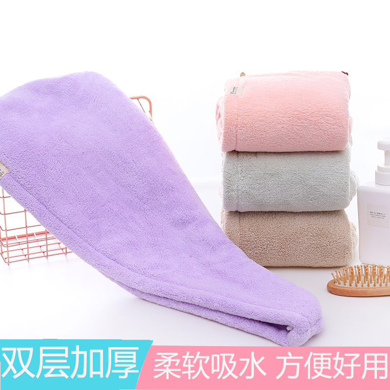 Dry hair cap absorbent quick drying bath cap headband lovely thickened super absorbent shampoo towel towel dry hair towel