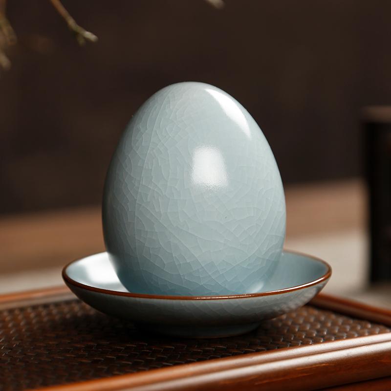 开片可养仿真茶叶蛋茶桌摆件紫砂壶