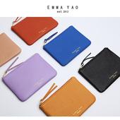 EMMA YAO男女式零钱包真皮拉链牛皮小钱包卡包迷你韩版钥匙硬币包